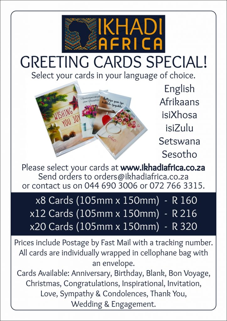 Ikhadi Africa - Greeting cards in the language of your choice